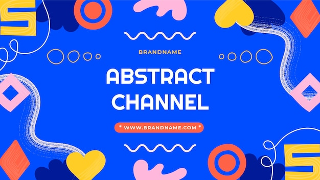 Handgetekende abstracte vormen youtube thumbnail