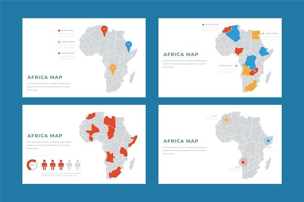 Handgetekende afrika kaart infographic