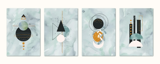 Handgetekende aquarel omslagcollectie