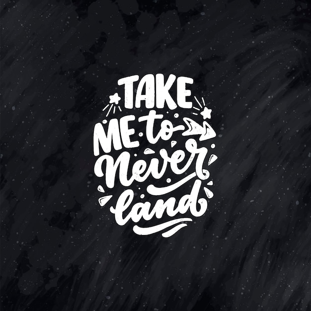 Handgetekende belettering citaat in moderne kalligrafie stijl voor kinderkamer. slogan voor t-shirt prints en interieur posters. vector illustratie