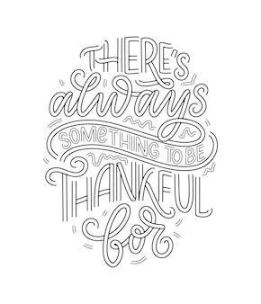 Handgetekende belettering citaat over thanksgiving. coole zin voor print- en posterontwerp. inspirerende slogan. vector illustratie