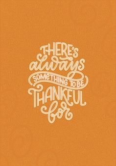 Handgetekende belettering citaat over thanksgiving coole zin voor print en posterontwerp inspirerende ...