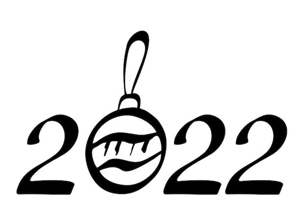 Handgetekende belettering wenskaart met chinese kalligrafie voor 2022 happy new year calendar