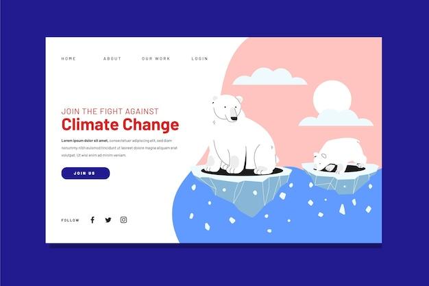 Handgetekende bestemmingspagina voor klimaatverandering