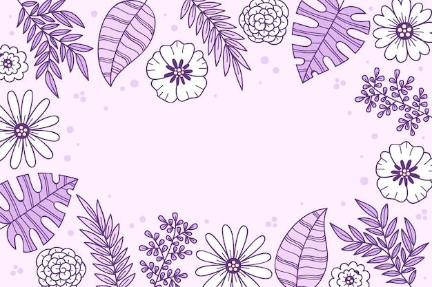 Handgetekende bloemenachtergrond