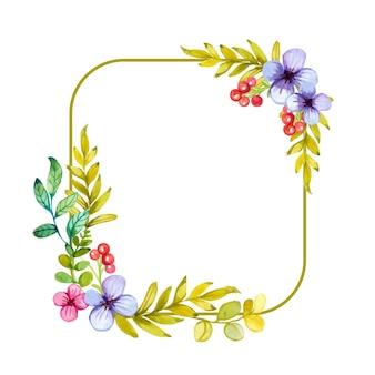 Handgetekende bloemenframes