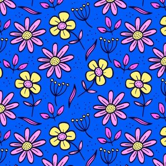 Handgetekende bloemmotief