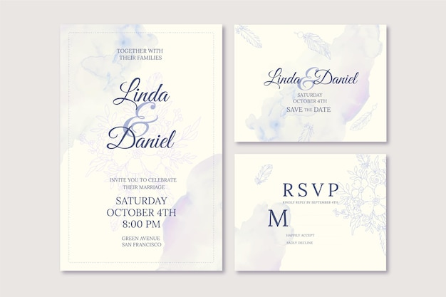 Handgetekende boho bruiloft briefpapier