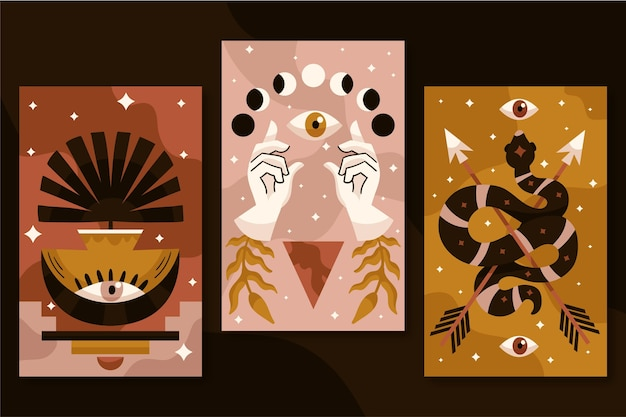 Handgetekende boho covers-collectie