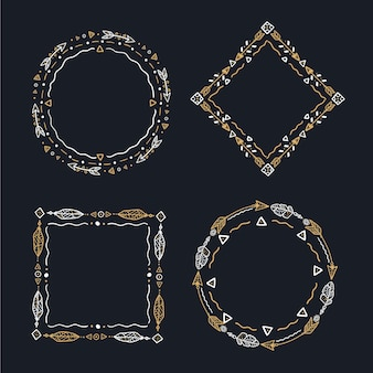 Handgetekende boho frame-collectie