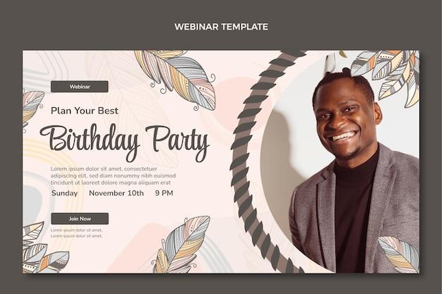 Handgetekende boho verjaardag webinar