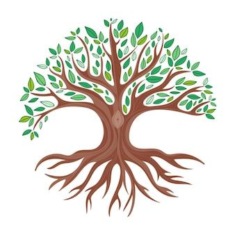 Handgetekende boom leven illustratie