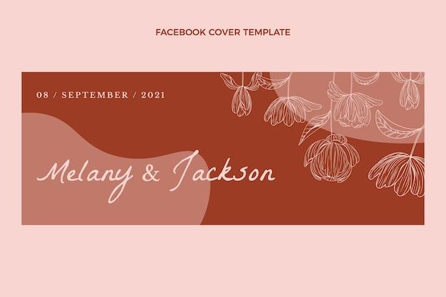 Handgetekende bruiloft facebook omslag