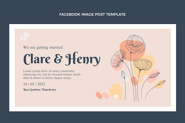 Handgetekende bruiloft facebook post