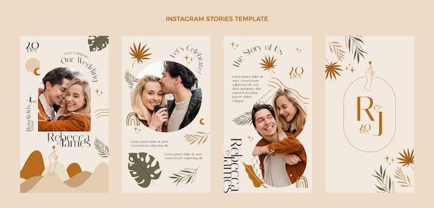 Handgetekende bruiloft instagram verhalen