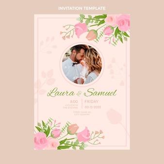 Handgetekende bruiloft poster sjabloon