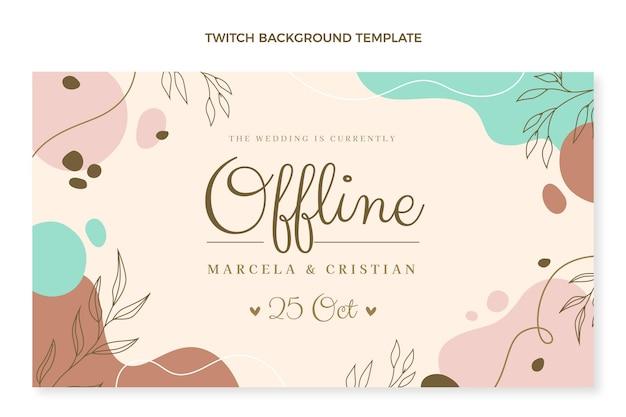 Handgetekende bruiloft twitch achtergrond