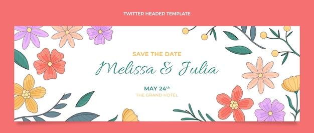 Handgetekende bruiloft twitter header