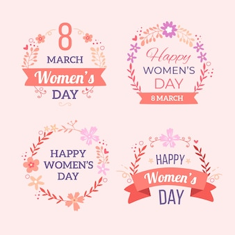 Handgetekende dames dag badges