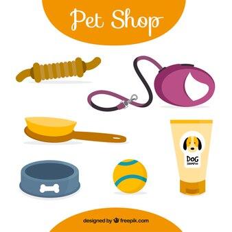 Handgetekende dierenwinkel accessoires