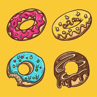 Handgetekende donuts