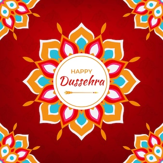 Handgetekende dussehra festival