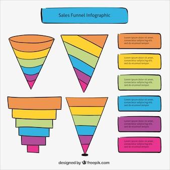 Handgetekende elementen voor infographics