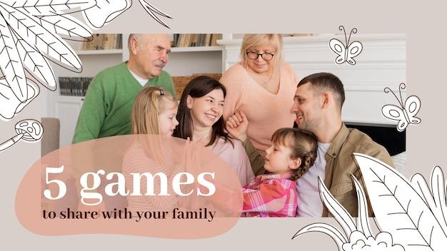 Handgetekende familie youtube thumbnail