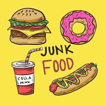 Handgetekende fastfood pictogram
