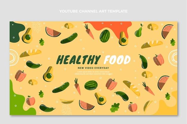 Handgetekende food youtube channel art