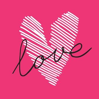 Handgetekende geschilderd hart, vectorelement voor uw ontwerp. kan worden gebruikt voor huwelijksuitnodiging, kaart voor valentijnsdag of kaart over liefde