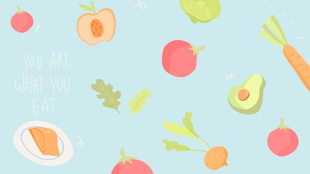 Handgetekende groenten achtergrond