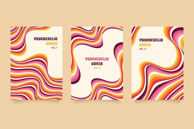Handgetekende groovy psychedelische coverset