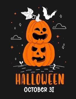 Handgetekende halloween-feestposter