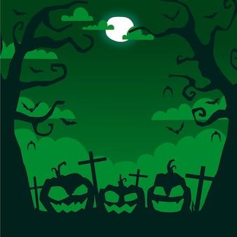 Handgetekende halloween frame thema