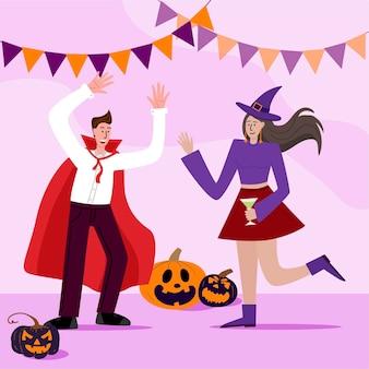 Handgetekende halloween-illustratie