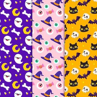 Handgetekende halloween patronen