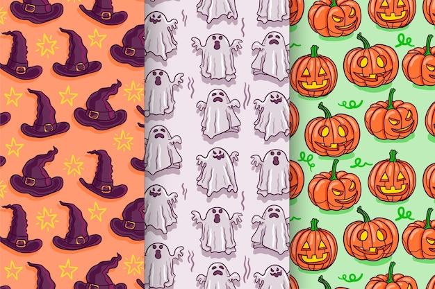 Handgetekende halloween-patronen