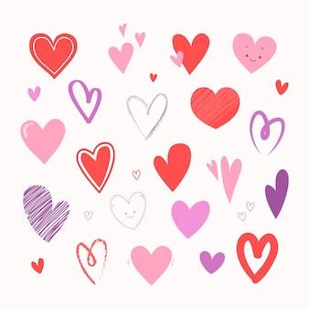 Handgetekende hartcollectie