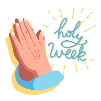 Handgetekende heilige week