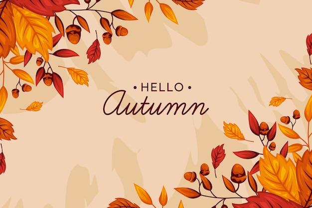 Handgetekende herfst behang