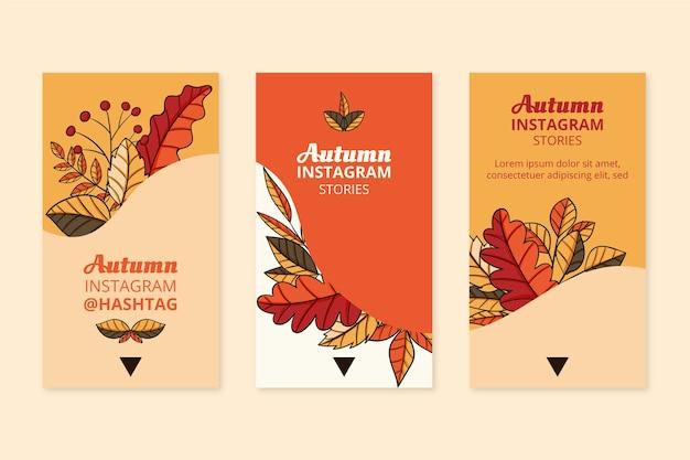 Handgetekende herfst instagram verhalencollectie