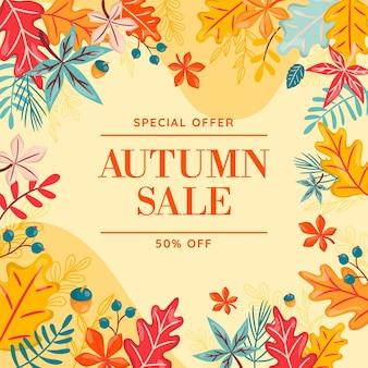 Handgetekende herfst verkoop