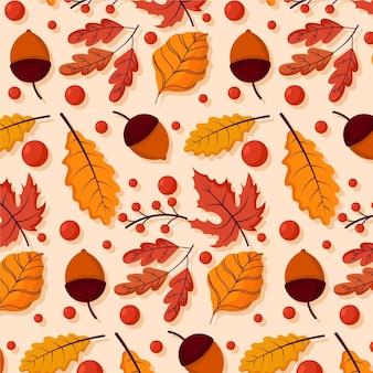 Handgetekende herfstachtergrond