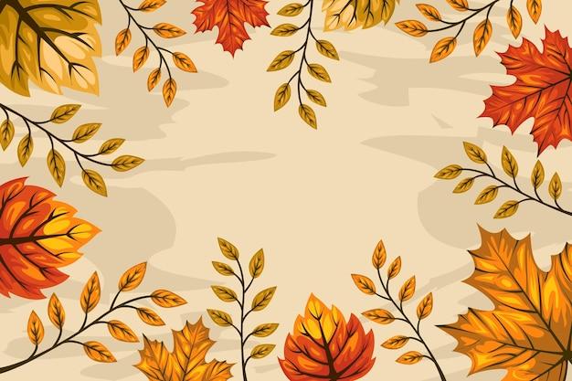 Handgetekende herfstbehangthema