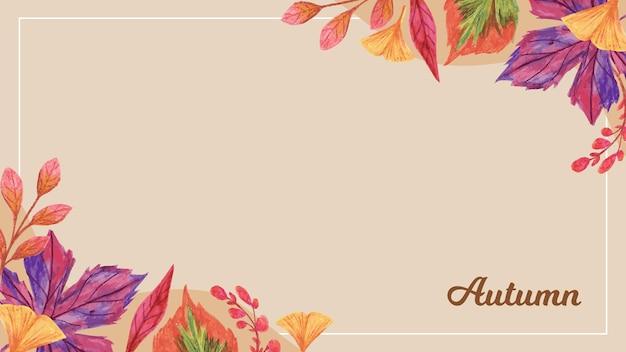 Handgetekende herfstbladeren achtergrond