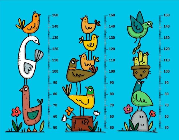 Handgetekende hoogtemeter pack