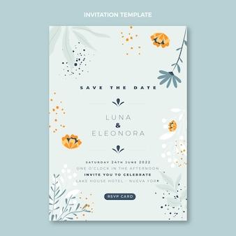 Handgetekende huwelijksuitnodiging