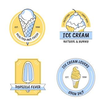 Handgetekende ijslabelcollectie