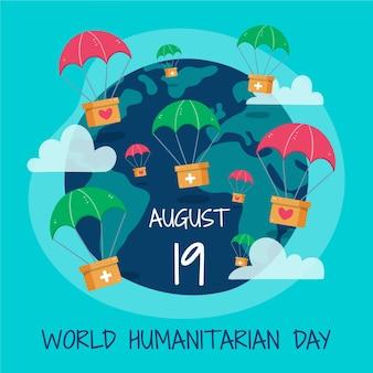 Handgetekende illustratie van de wereld humanitaire dag